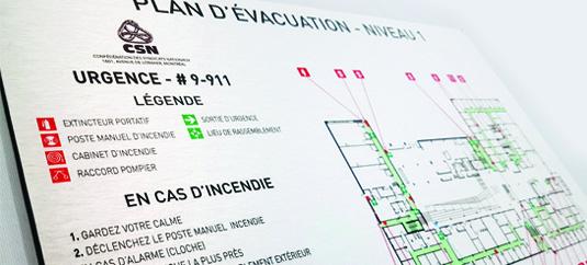 Plan d'evacuation
